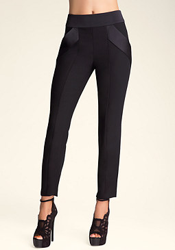 Cassandra Contrast Trousers at bebe
