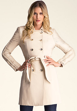 bebe Belted Trench Coat