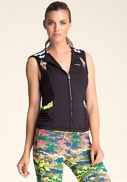 bebe Contrast-Print Ruched Vest
