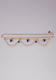 bebe Reversible Jewel Chain Belt