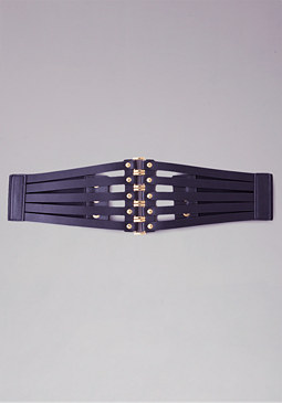 bebe 5-Square Corset Belt