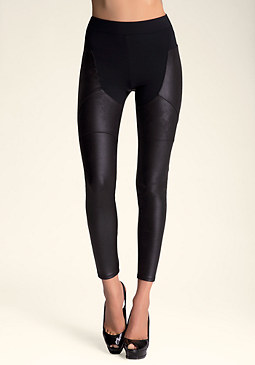 bebe Coated Chap Leggings
