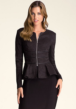 bebe Sandy Peplum Jacket