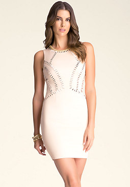 bebe Embellished Seam Dress