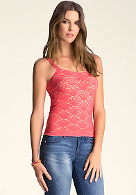 bebe Double Layer Crochet Tank