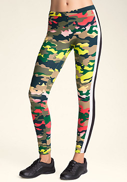 bebe Camo Double-Panel Legging