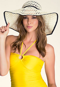 Trimmed Floppy Hat at bebe