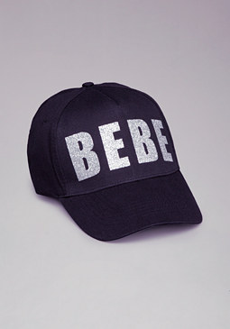 bebe Logo Blocked Baseball Cap