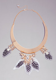 FEATHER COLLAR NECKLACE at bebe