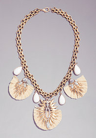 bebe Tassel & Pendant Necklace
