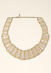 Rectangular Stone Necklace at bebe