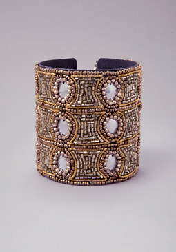 Seed Bead Chain Cuff at bebe
