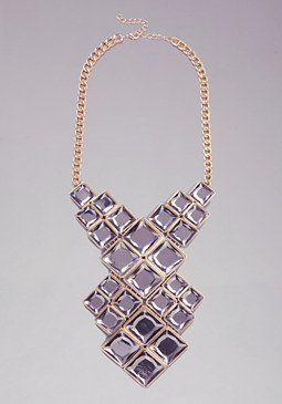 bebe Crystal Bib Necklace