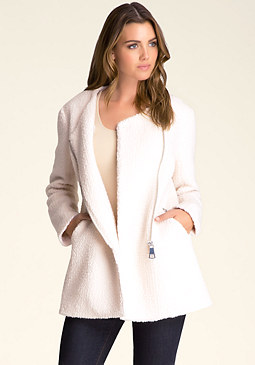 bebe Coco Wool Zippered Coat ���