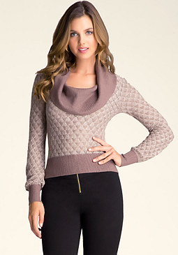 bebe Diamond Stitch Sweater