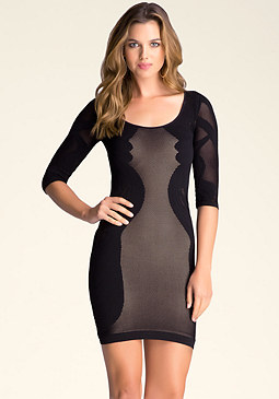bebe Versailles Lace Dress