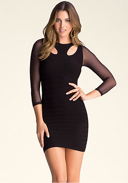 bebe Christina Cutout Dress