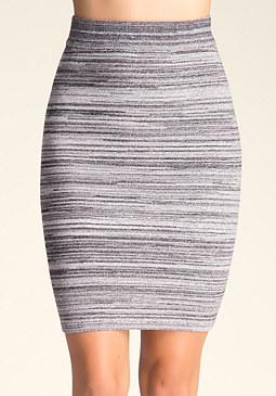 bebe Space Dye Midi Skirt