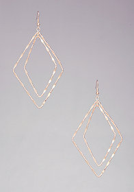 TEXTURED DIAMOND EARRINGS at bebe