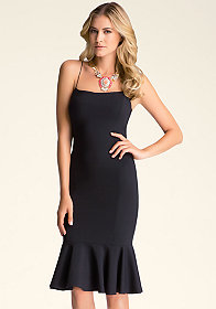 bebe Midi Flounce Dress