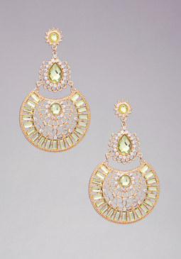 bebe Multi-Drop Crystal Earrings