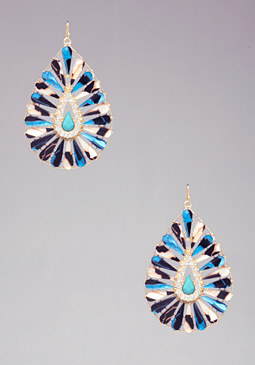 bebe Marble Teardrop Earrings