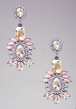 bebe Crystal Petal Earrings