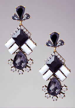 Black & White Earrings at bebe