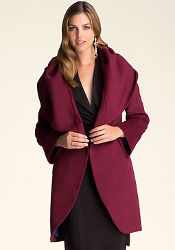 bebe Shawl Collar Coat