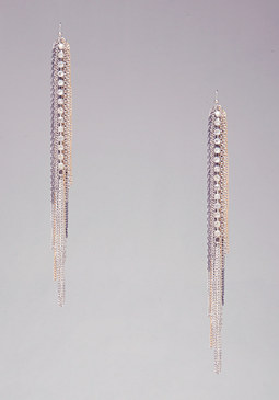bebe Fringe Duster Earrings