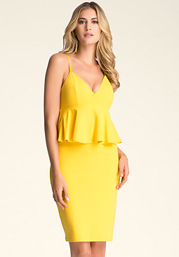 bebe Midi Empire Waist Dress
