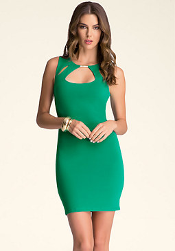 Sleeveless Cutout Dress at bebe