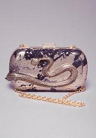 bebe Seraphina Snake Minaudiere