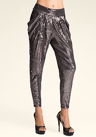 bebe Atlas Sequin Leggings