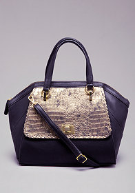 Marlow Crocodile Satchel at bebe