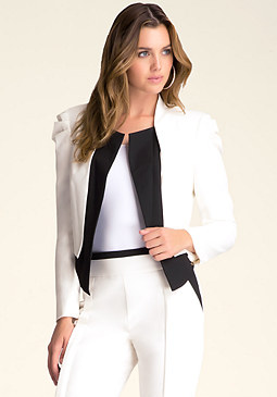 Blair Puff Contrast Jacket at bebe