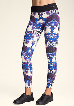bebe Print Zipper Leggings