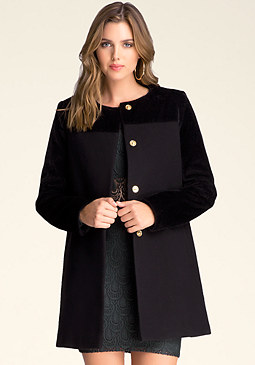 bebe Wool Car Coat