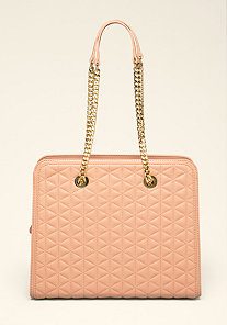 Edie Quilted Chain Tote at bebe