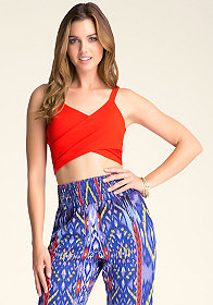 WRAP CROP TANK at bebe