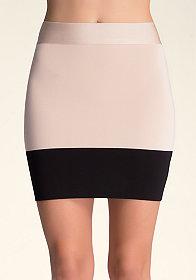 bebe Colorblock Bodycon Skirt