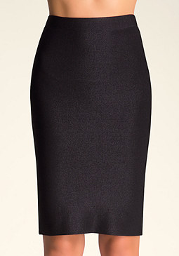 bebe Exposed Zip Midi Skirt
