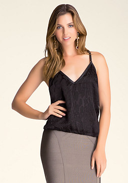 bebe Silk Burnout Top