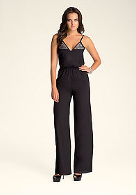 Embroidered Jumpsuit at bebe