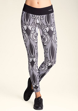 bebe Shirred Print Leggings