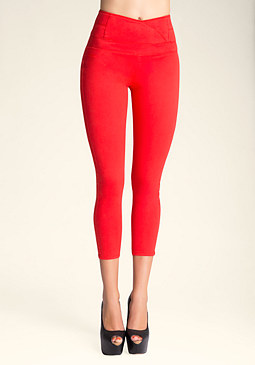 HIGH RISE TULIP CROP PANTS at bebe