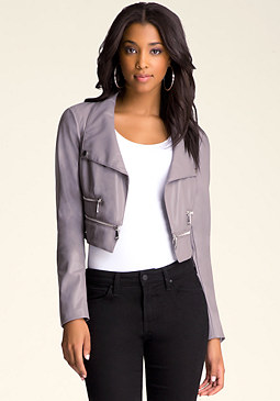 bebe Zip Detail Jacket