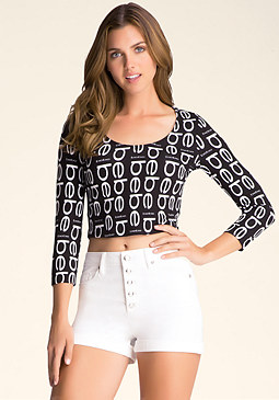 bebe bebe Logo Crop Top