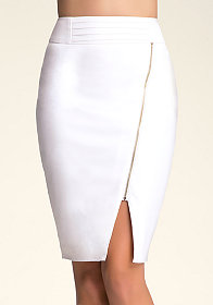 bebe Asymmetric Zip Pencil Skirt
