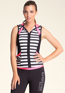 Ruched Stripe Vest at bebe